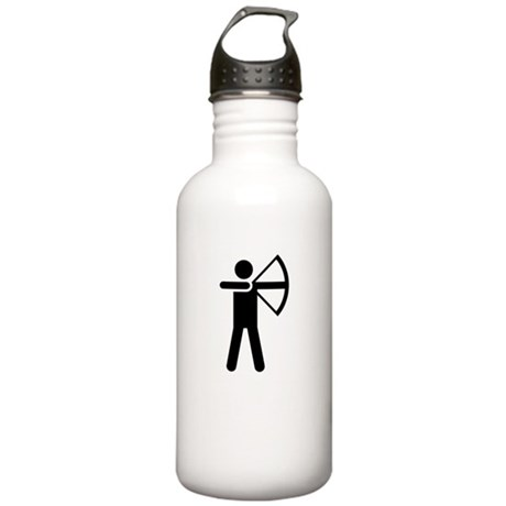ishoot archery white Stainless Water Bottle 1.0L