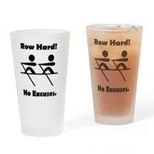 Row Hard Black Drinking Glass