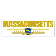 Massachusetts (Flag 10) pocket Bumper Sticker