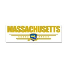 Massachusetts (Flag 10) pocket Car Magnet 10 x 3