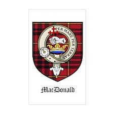 MacDonald Clan Crest Tartan Rectangle Decal