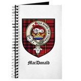 MacDonald Clan Crest Tartan Journal