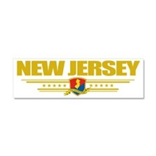 New Jersey (Flag 10) pocket Car Magnet 10 x 3