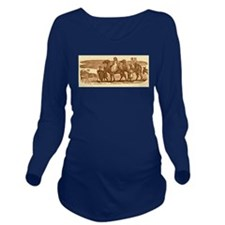 Camel Riders Long Sleeve Maternity T-Shirt