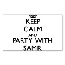 Keep Calm and Party with Samir Decal