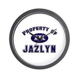 Property of jazlyn Wall Clock