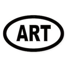 Art Car Oval Bumper Stickers