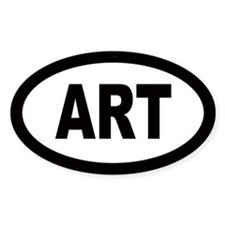 Art Car Oval Stickers