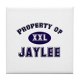Property of jaylee Tile Coaster
