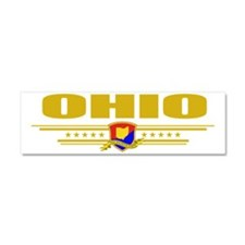 Ohio (Flag 10) pocket Car Magnet 10 x 3