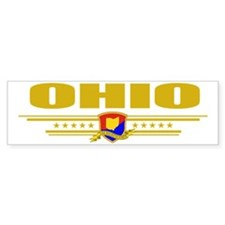 Ohio (Flag 10) pocket Bumper Sticker