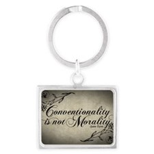 conventionality-is-not-morality Landscape Keychain