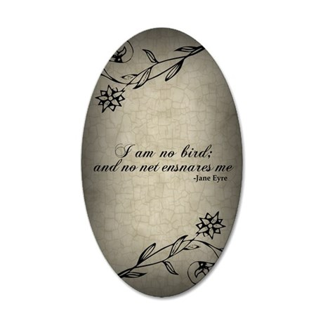 no-net-ensnares-me_j 35x21 Oval Wall Decal