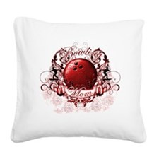 BowlingMom (red) Square Canvas Pillow