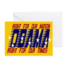 OBAMA FOR PRESIDENT Greeting Cards (Pk of 10)