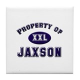 Property of jaxson Tile Coaster