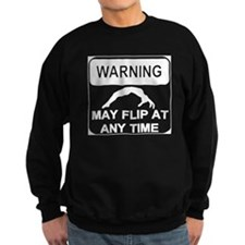 Warning may Flip gymnastics Sweatshirt