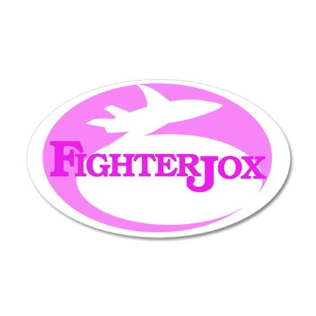 fj-logo-4-pink-on-white 35x21 Oval Wall Decal