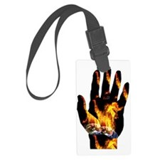 Burning Hand Luggage Tag