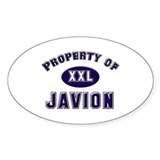 Property of javion Oval Decal