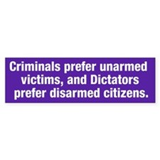 Criminals & Dictators Bumper Bumper Sticker