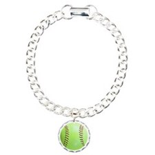 Softball Button, Magnet, Bracelet