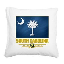 South Carolina (Flag 10) Square Canvas Pillow
