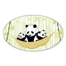 Panda in Hammock Decal