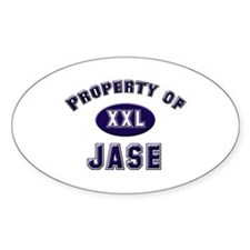 Property of jase Oval Decal