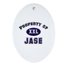 Property of jase Oval Ornament