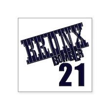"""Bronx Bomber Oneill No 21 Square Sticker 3"""" x 3"""""""