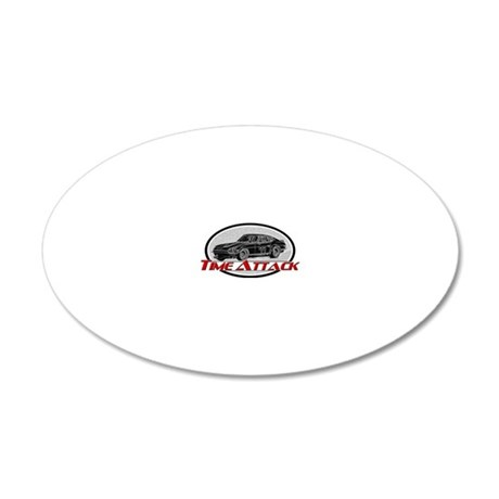 Time-Attack 20x12 Oval Wall Decal