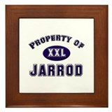 Property of jarrod Framed Tile