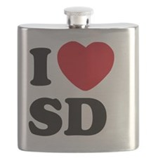 I Heart San Diego Flask