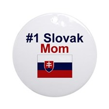 #1 Slovak Mom Ornament (Round)