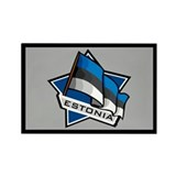 """Estonia Star Flag"" Rectangle Magnet (10 pack)"