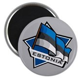 """Estonia Star Flag"" Magnet"