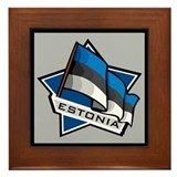 """Estonia Star Flag"" Framed Tile"