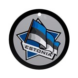 """Estonia Star Flag"" Ornament (Round)"