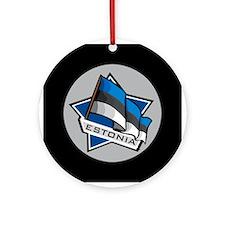 """Estonia Star Flag"" Ornament (Round)"
