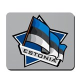 """Estonia Star Flag"" Mousepad"