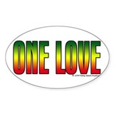 One Love Oval Decal