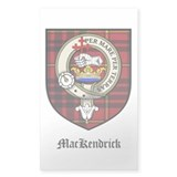 MacKendrick Clan Crest Tartan Sticker (Rectangular