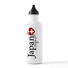 japan_vertical-design Water Bottle