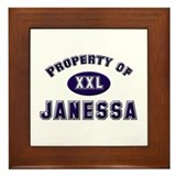 Property of janessa Framed Tile