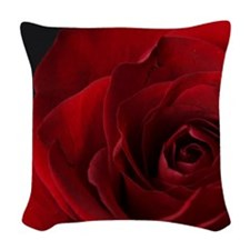 2011vDayRose_7_16x20 Woven Throw Pillow