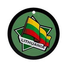 """Lithuania Star Flag"" Ornament (Round)"