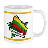 """Lithuania Star Flag"" Small Mug"