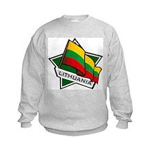 """Lithuania Star Flag"" Sweatshirt"
