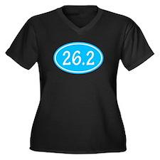 Sky Blue 26.2 Oval Plus Size T-Shirt